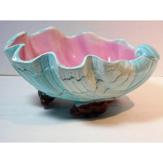 English Majolica Large Clam Shell Bowl, Circa 1885 For Sale - Image 13 of 13