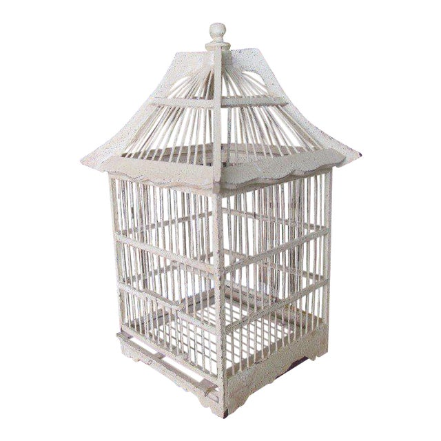 Vintage Painted Bird Cage - Image 1 of 7