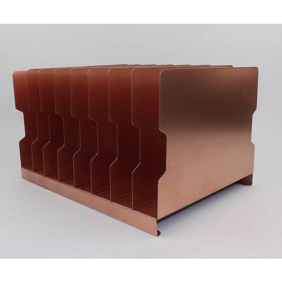 Rose Gold Desk Organizer / Mail Sorter For Sale - Image 4 of 8