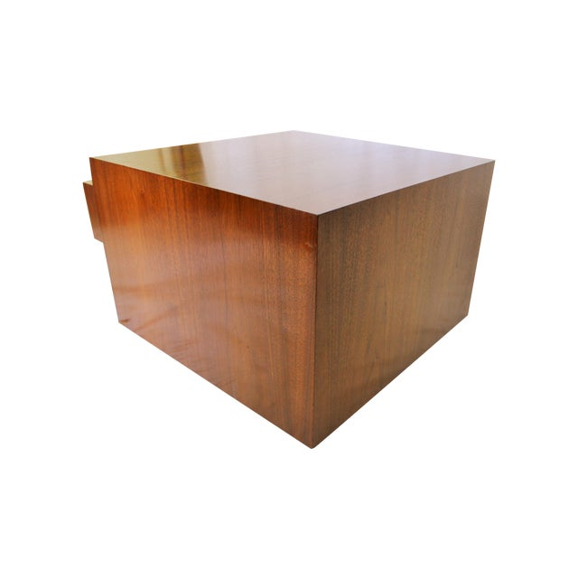Milo Baughman Style Cube Coffee Table - Image 1 of 7