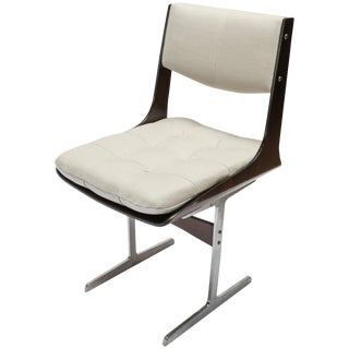 Set of 10, 1960s Brazilian Jacaranda Tufted Dining Chairs in Beige Linen For Sale