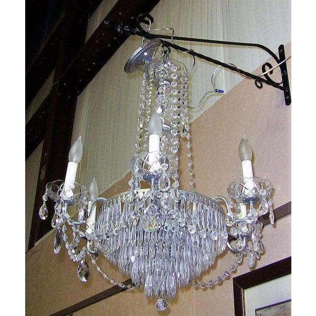 Late 20th Century Vintage Schonbek Crystal 6 Arm Chandelier For Sale - Image 5 of 9
