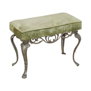 w.h. Howell Vintage Art Deco Cast Iron Vanity Bench For Sale