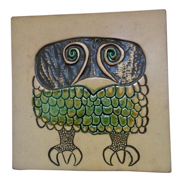 David Gil Bennington Pottery Mid-Century Wall Plaque or Trivet For Sale