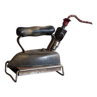 Vintage Electric Iron With Stand