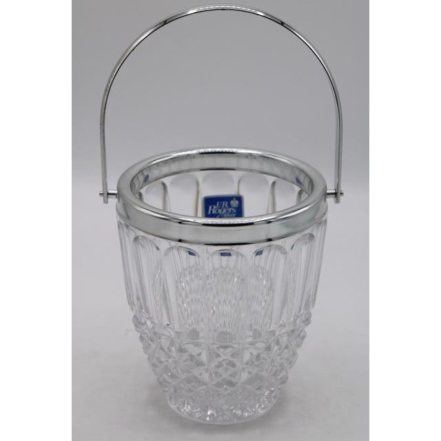 Mid 20th Century Mid-Century Crystal Ice Bucket For Sale - Image 5 of 6
