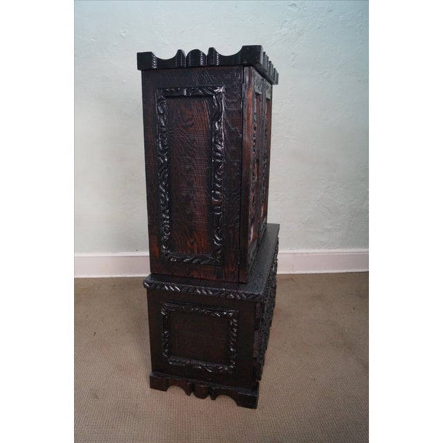 Witco Tiki Elvis Jungle Room Redwood Armoire - Image 8 of 10