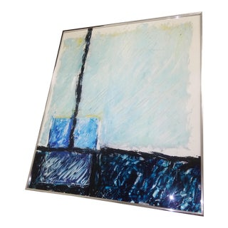 Abstract Framed Painting by Mota For Sale