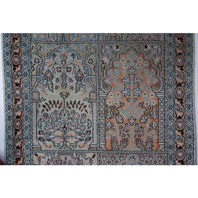 Persian Pale Blue Field Silk Runner Rug - 2′ × 10′ For Sale - Image 4 of 6