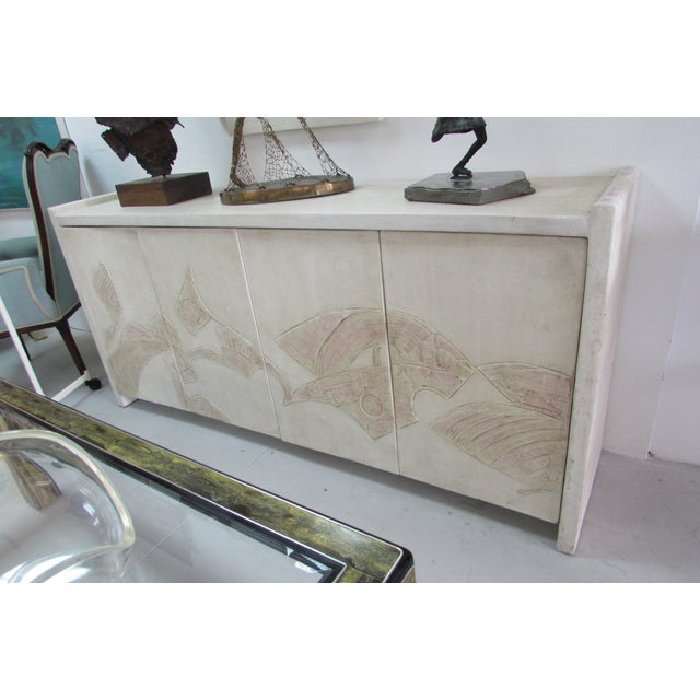 1980's Bass Relief Plaster Cabinet by Bardol - Image 3 of 5