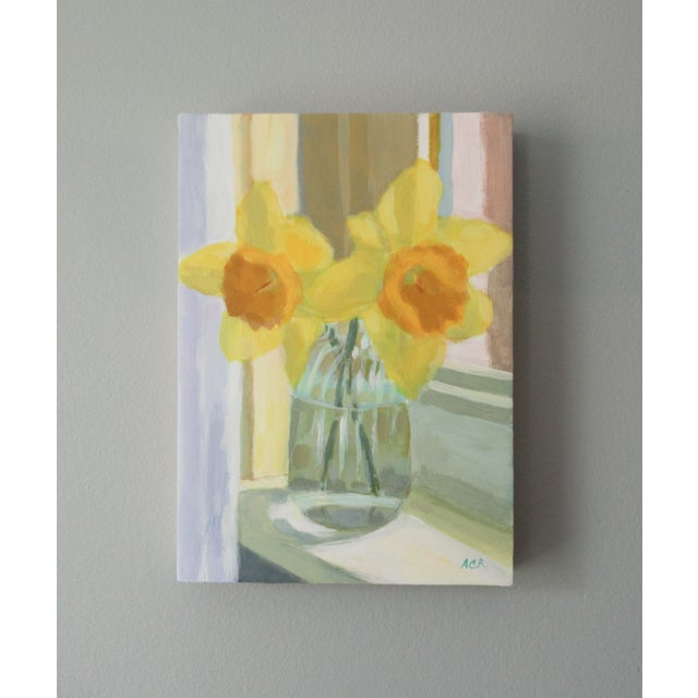 Anne Carrozza Remick Daffodil on the Windowsill by Anne Carrozza Remick For Sale - Image 4 of 7