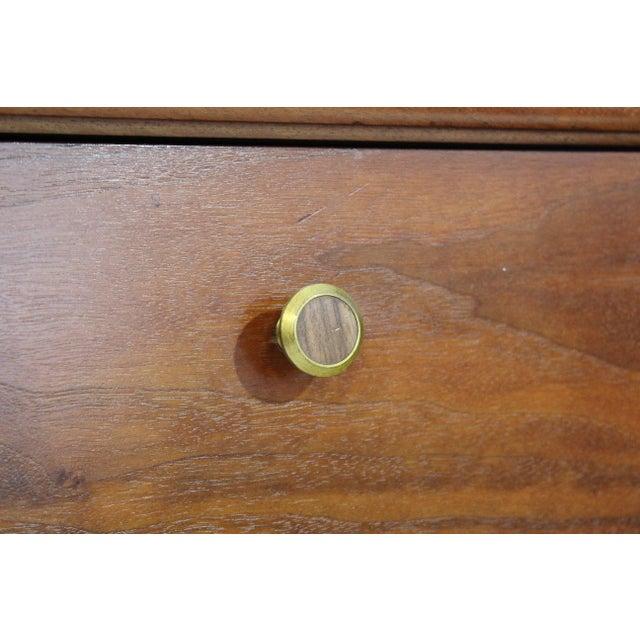 Mid-Century Modern Kipp Stewart Drexel Declaration Walnut Pair of Nightstands For Sale - Image 9 of 10