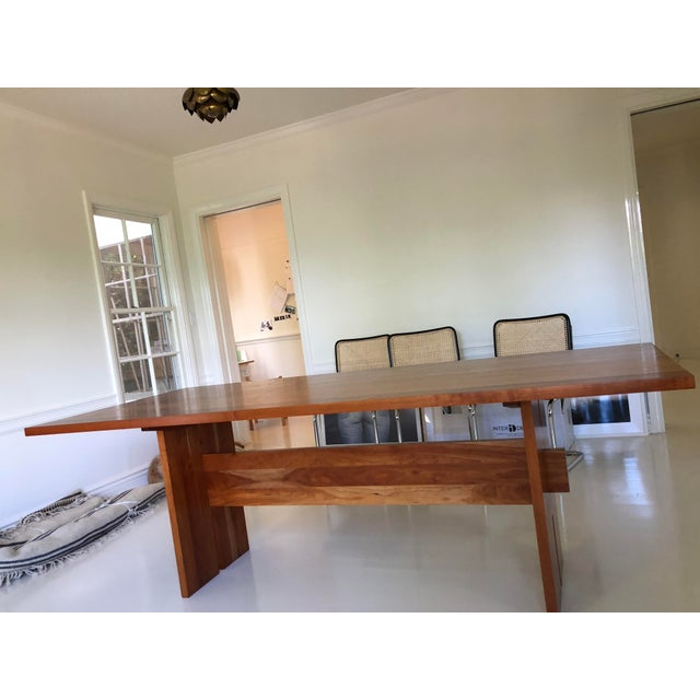 Modern Room and Board Cherry Dining Table For Sale - Image 3 of 4