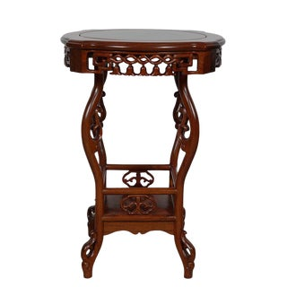 Early 20th Century Vintage Chinese Rosewood Pedestal Table/Plant Stand For Sale