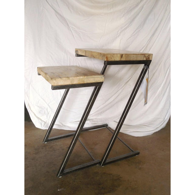 Bernhardt Petrified Wood Nesting Tables - A Pair - Image 7 of 9