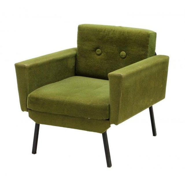 Italian Mid Century Modern Club Chairs - Pair - Image 2 of 5
