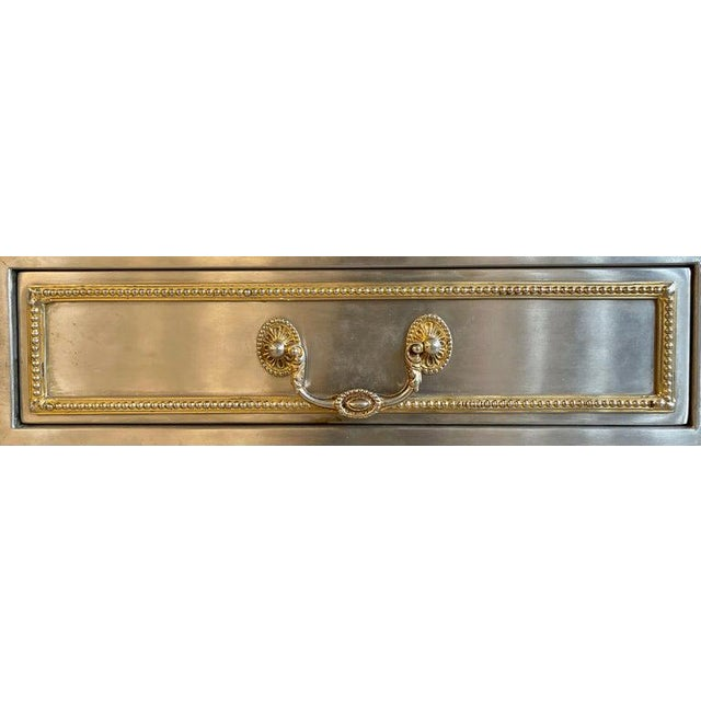 John Vesey Mid-Century Modern Desk or Bureau Plat. Steel and Bronze For Sale - Image 11 of 12