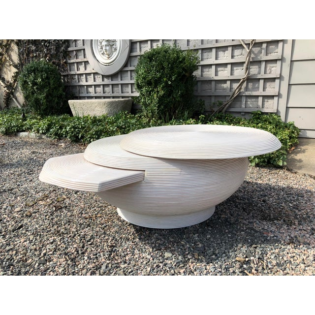 Gabriela Crespi Style Mid-Century Modern Round Cocktail Table For Sale - Image 10 of 13