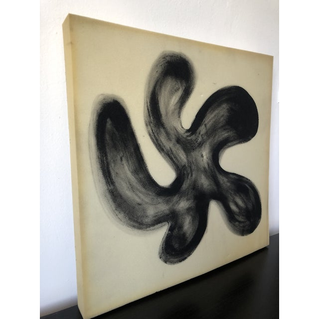 Airbrush Flower on Selvaged Foam Abstract Art For Sale - Image 4 of 8