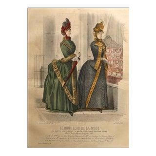 1885 Moniteur De La Mode, Parisian Ladies Fashion (Plate 50-1885)
