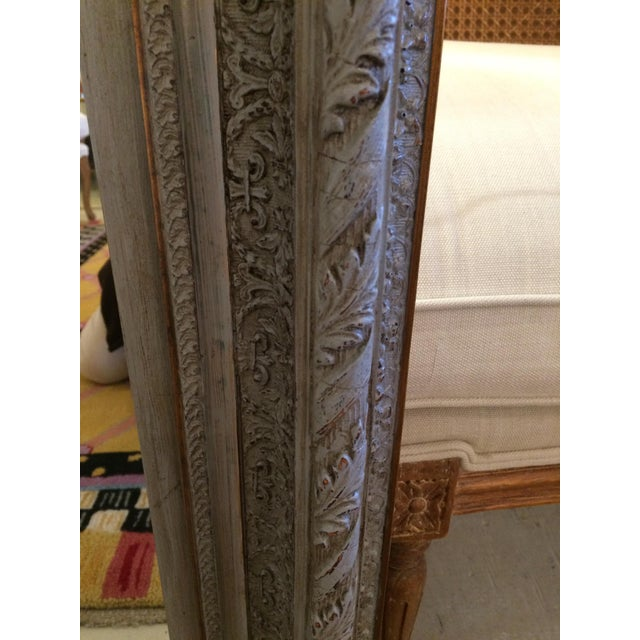 Gustavian Grey Carved Wood Mirror For Sale - Image 4 of 6