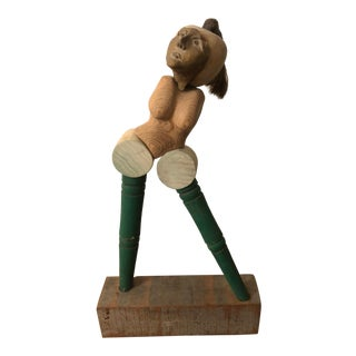 """""""Maquette"""" Mixed Media Sculpture of Woman For Sale"""
