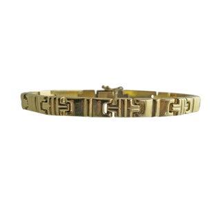 Vintage Italian 14k Gold Link Bracelet For Sale