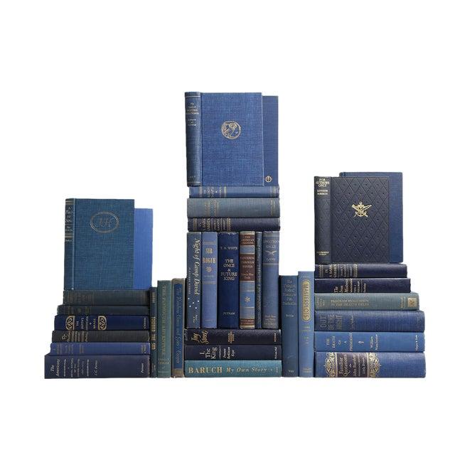 Mid-Century Sapphire Blue Books - Set of 35 - Image 1 of 2