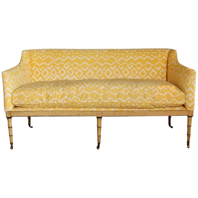 19th Century English Upholstered Sofa or Bench For Sale