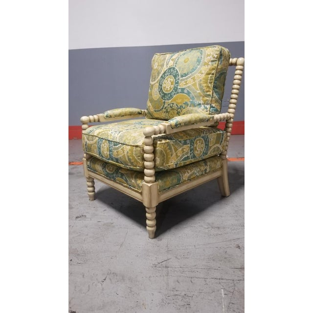 Miles Talbott Bankwood Spindle Shiloh Spool Lounge Chair For Sale - Image 4 of 6