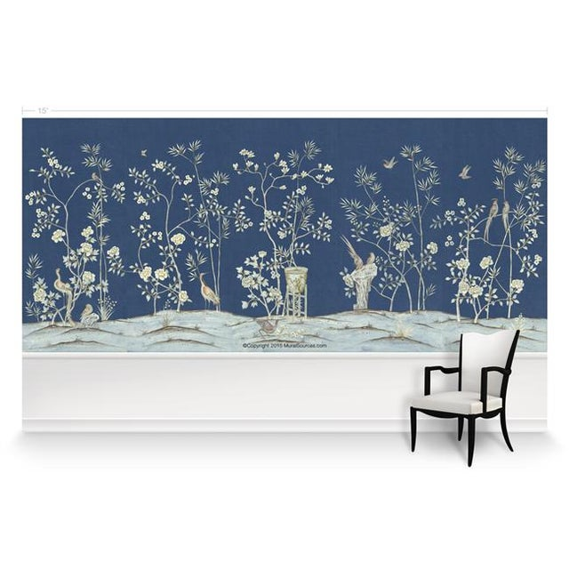 "Chinoiserie Casa Cosima Royal Brighton Wallpaper Mural - 5 Panels 180"" W X 96"" H For Sale - Image 3 of 6"