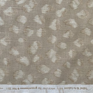 "Lee Jofa Groundworks ""feline"" Beige Linen Fabric- 2 Yards For Sale"