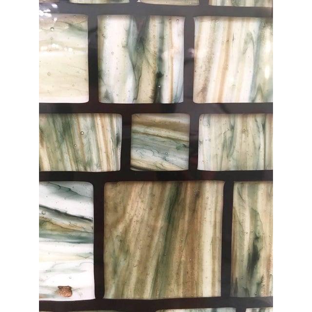 Copper Modern Italian Green, Cream, Caramel, White and Black Murano Glass Mosaic Mirror For Sale - Image 7 of 9