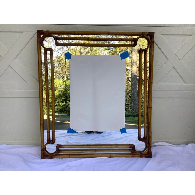 1970s Rattan & Bamboo Mirror For Sale - Image 13 of 13