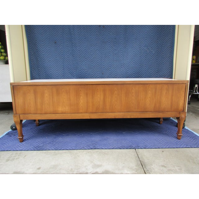 Weiman 1970s Hollywood Regency Weiman Burl Wood Console Cabinet For Sale - Image 4 of 12