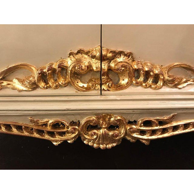 Gold Parcel-Gilt and Paint Decorated Two-Drawer and Two-Door Louis XV Style Cabinet For Sale - Image 8 of 13