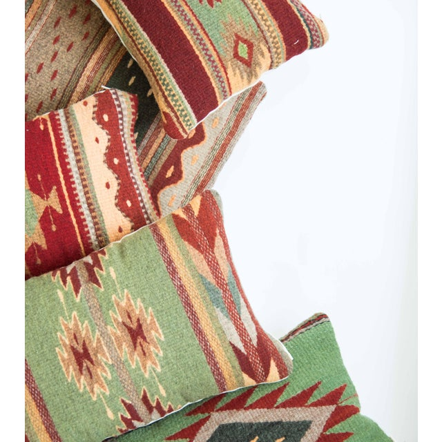 Red Wool Oaxacan Pillow - Image 5 of 5