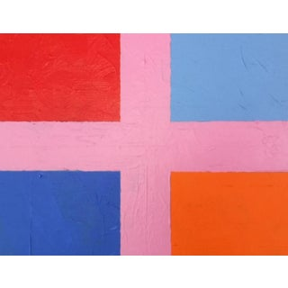 """2020 Donald Florence Abstract """"Pink Plus"""" Acrylic Painting For Sale"""