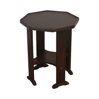 Stickley Mission Collection Oak Octagonal Side Table For Sale