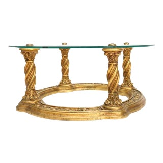 Carved Giltwood Coffee Table For Sale