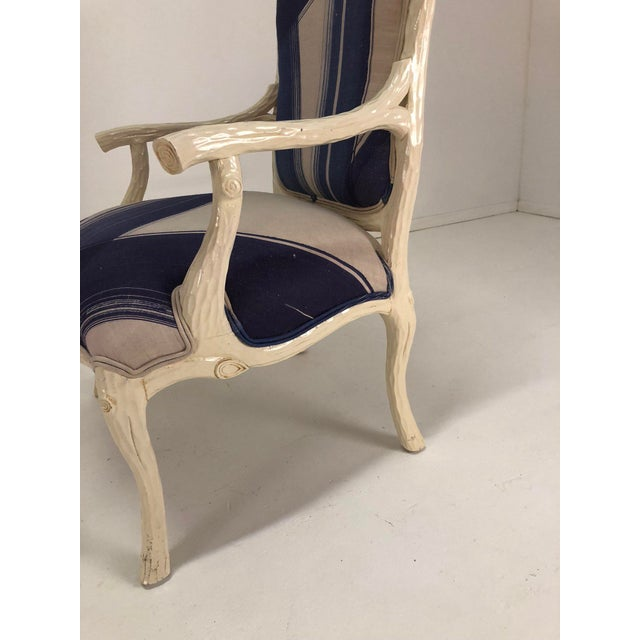 Italian Graphic Faux Bois Arm Chairs - a Pair For Sale - Image 12 of 13