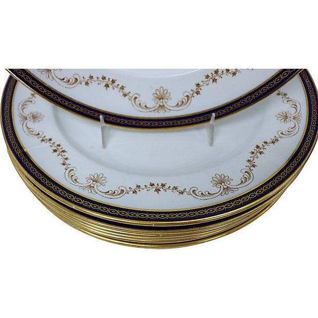 Antique English Cobalt & Gilt Plates - Set of 8 - Image 2 of 3
