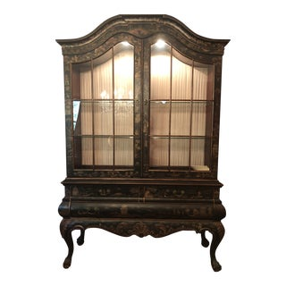 Vintage Drexel-Heritage Chinoiserie Style Display Cabinet For Sale