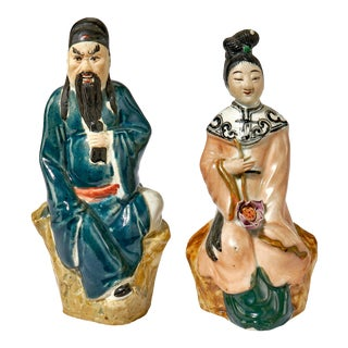 Pair Porcelain Chinese Figurines For Sale