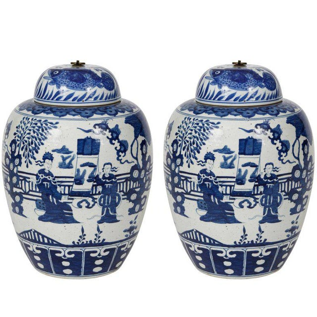 Early 20th Century Chinese Ginger Jars - A Pair For Sale - Image 5 of 5