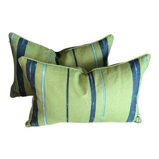 Striped Bolster Pillows - a Pair