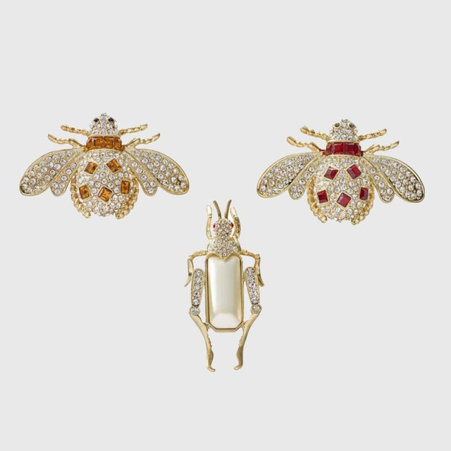 Modern Jeweled Insect Clip Set - Set of 3 For Sale - Image 3 of 3