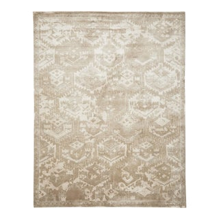 Serena & Lily Neutral Pattern Area Rug For Sale