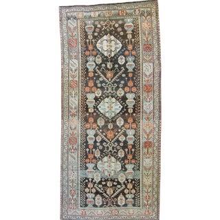 1920s Vintage Caucasian Karabagh Vase Wool Pile Handwoven Rug For Sale
