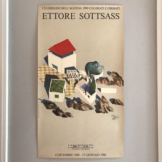 Ettore Sottsass Ettore Sottsass Poster For Sale - Image 4 of 4
